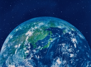 CG  宇宙と地球のアップの写真素材 [FYI03004252]