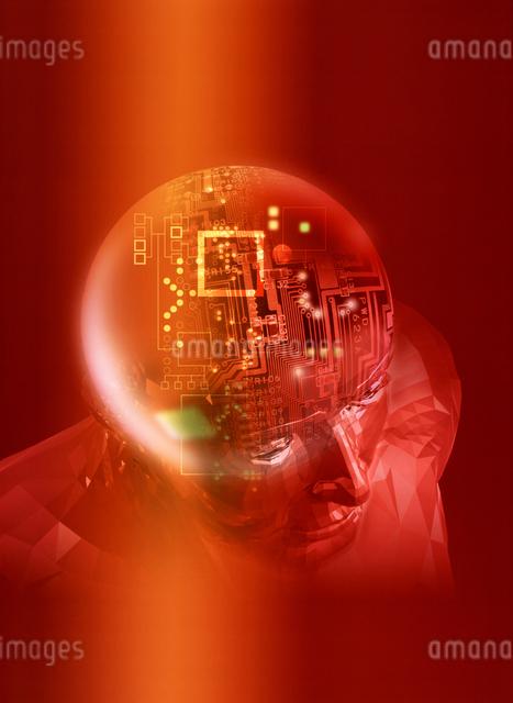 頭脳イメージ CGの写真素材 [FYI03004292]