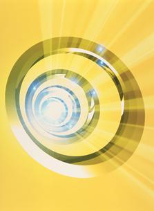 光と円環のイメージ CGのイラスト素材 [FYI03004296]