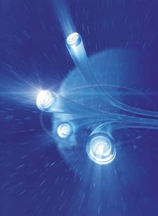 光と通信イメージ CGのイラスト素材 [FYI03004301]