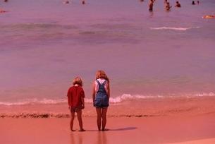 2人の外国人子供 オアフ島 ハワイの写真素材 [FYI03004315]