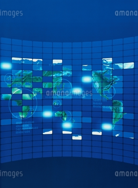ITイメージ  地図の写真素材 [FYI03004412]