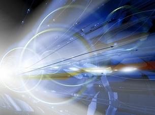 光と線状のオブジェ CGのイラスト素材 [FYI03004436]