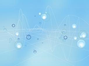 球体と線形オブジェ(水色) CGのイラスト素材 [FYI03004437]