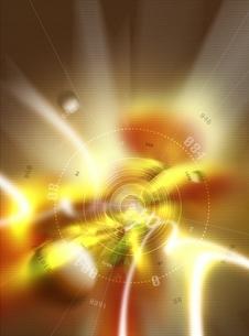 円状のオブジェを囲む度数と光 CGのイラスト素材 [FYI03004452]