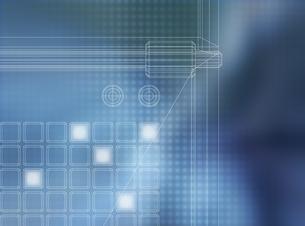 設計図と回路(青) CGのイラスト素材 [FYI03004461]