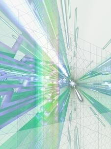 升目から飛び出す放射状の線 CGのイラスト素材 [FYI03004470]