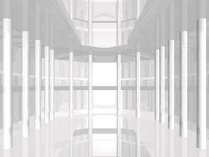 アブストラクト(白) CGのイラスト素材 [FYI03004512]
