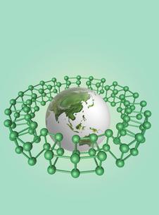 地球儀と連結のイメージ  CGイラストの写真素材 [FYI03004552]