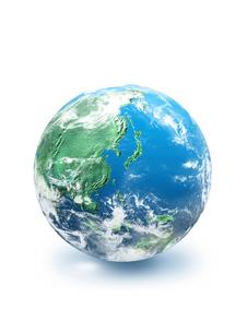 地球  CGイラストの写真素材 [FYI03004561]