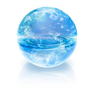 地球と水イメージのイラスト素材 [FYI03004589]