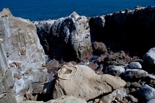鵜戸神宮の亀石桝形岩の写真素材 [FYI03004692]