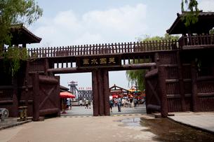 三国志テーマパークの三国城の写真素材 [FYI03004814]