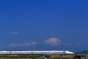 神奈川県 新幹線N700系と富士山の写真素材 [FYI03005242]
