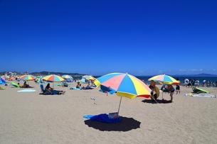 夏の三浦海岸海水浴場の写真素材 [FYI03005266]