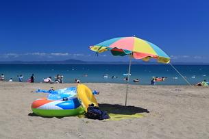夏の三浦海岸海水浴場の写真素材 [FYI03005283]