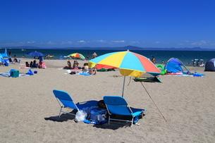 夏の三浦海岸海水浴場の写真素材 [FYI03005285]