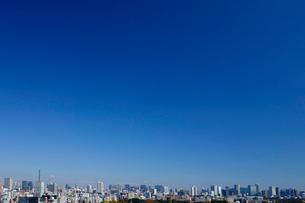新宿から望む東京のビル群の写真素材 [FYI03005306]