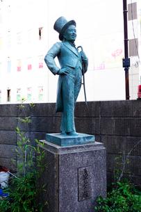 神奈川県,美空ひばり像の写真素材 [FYI03005329]