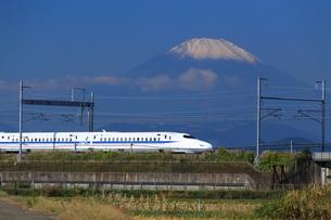 富士山と東海道新幹線の写真素材 [FYI03005333]