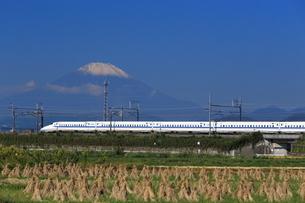 富士山と東海道新幹線の写真素材 [FYI03005348]