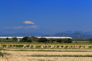 富士山と東海道新幹線の写真素材 [FYI03005361]
