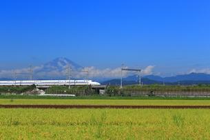 富士山と新幹線の写真素材 [FYI03005400]