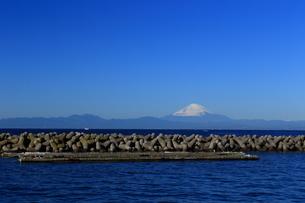 湘南の富士山とテトラポッドの写真素材 [FYI03005551]