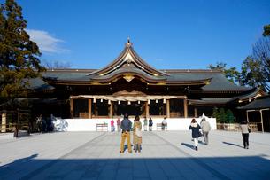 寒川神社の拝殿の写真素材 [FYI03005620]
