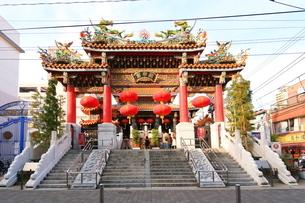 横浜 中華街関帝廟の写真素材 [FYI03005672]