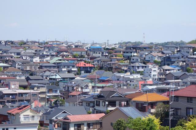神奈川県横浜市の住宅街の写真素材 [FYI03005790]
