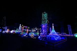 神奈川県 宮ヶ瀬のクリスマスイルミネーションの写真素材 [FYI03006213]