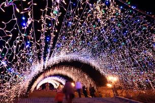 神奈川県 宮ヶ瀬のクリスマスイルミネーションの写真素材 [FYI03006216]