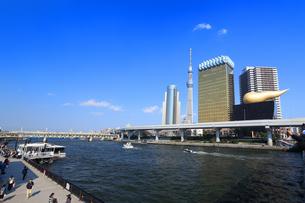 水上バスと東京スカイツリーの写真素材 [FYI03006366]