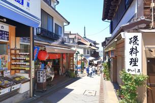 江の島 江島神社の参道の写真素材 [FYI03006533]