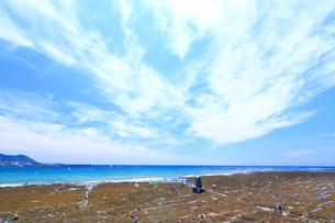 大潮の湘南海岸の写真素材 [FYI03006546]