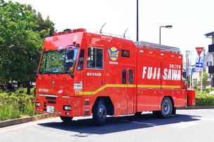 出動中の救助工作車の写真素材 [FYI03006572]