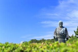 大磯城山公園 吉田茂像の写真素材 [FYI03006838]