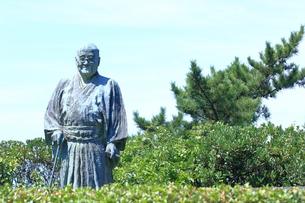 大磯城山公園 吉田茂像の写真素材 [FYI03006842]