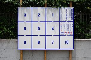 選挙ポスター掲示板の写真素材 [FYI03006854]
