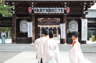 寒川神社の宮司の写真素材 [FYI03007317]