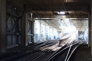 工事中の鉄道路線の写真素材 [FYI03007444]