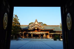 寒川神社の菊の御紋、の写真素材 [FYI03007453]