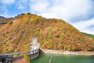 秋の鳴子ダムの写真素材 [FYI03007759]
