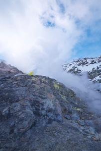 硫黄山の冬の写真素材 [FYI03007854]