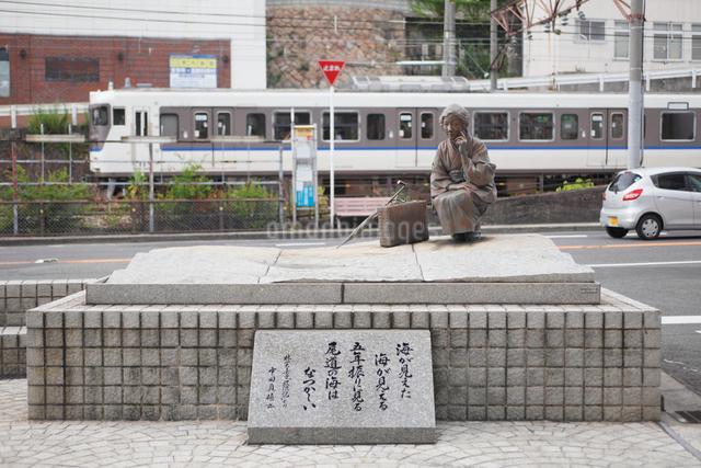 文学の町尾道の林芙美子像の写真素材 [FYI03009091]
