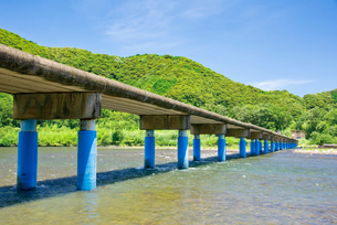 佐田の沈下橋の写真素材 [FYI03009151]