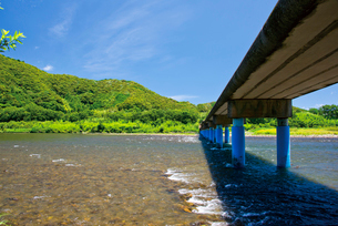 佐田の沈下橋の写真素材 [FYI03009325]
