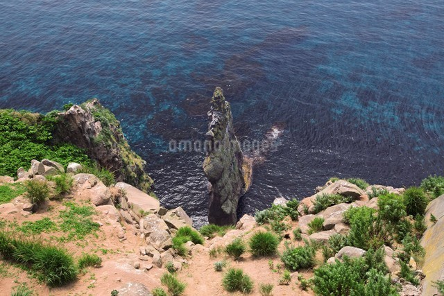 赤岩 天売島の写真素材 [FYI03009445]
