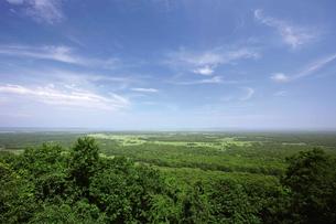 夏の釧路湿原 サテライト展望台からの眺めの写真素材 [FYI03009465]